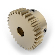 0.8 Mod Spur Gear,  30 T, 6mm Bore