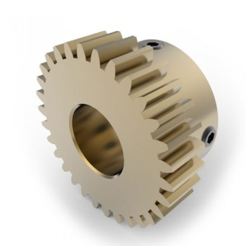 0.8 Mod Spur Gear,  30 T, 10mm Bore