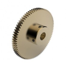 0.8 Mod Spur Gear,  80 T, 10mm Bore