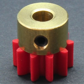 1.0 Mod Spur Gear,  10 T, 4mm Bore and Setscrew