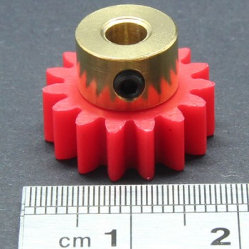 1.0 Mod Spur Gear,  15 T, 4mm Bore and Setscrew