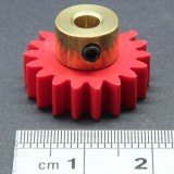 1.0 Mod Spur Gear,  18 T, 4mm Bore and Setscrew
