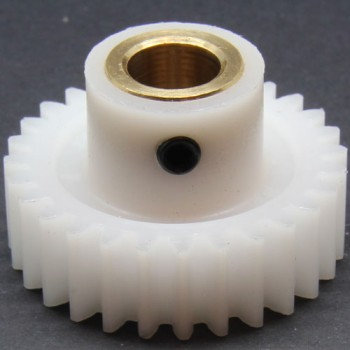 1.0 Mod Spur Gear,  28 T, 6mm Bore and Setscrew