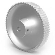 Aluminium 3mm HTD Pulley, 72T, 6mm Bore