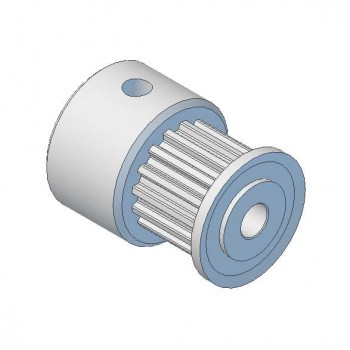 Aluminium MXL Pulley, 16T, 6mm Bore