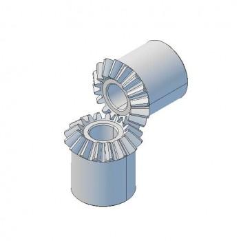 Pair Bevel Gears, 0.5 Mod,16 T, 3mm Bore