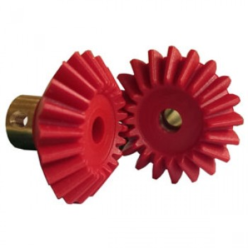 Pair Bevel Gears, 20DP, 20 T, Brass Insert