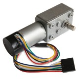 Worm Gearmotor, Ratio 40:1, with encoder.