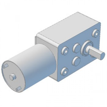 Worm Gearmotor, Ratio 100:1