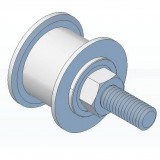 Idler Pulley, 20mm dia, for belt widths up to 9mm