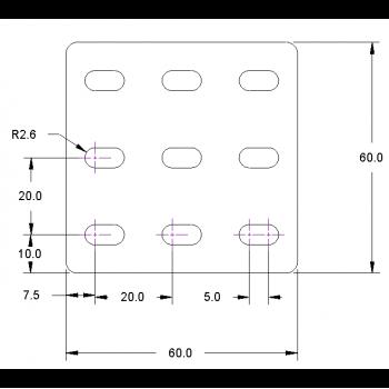 Construction Plate, 60 X 60