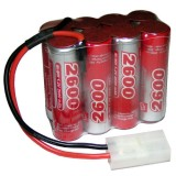 9.6V  Rechargeable Battery Pack, Ni-MH, 2600mAh