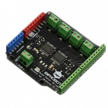 Quad DC Motor Driver Shield for Arduino