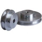 Grooved Pulley, 80mm dia, for 6mm Round Belt