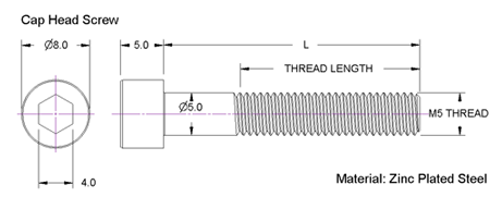 M5 Screw Dimensions