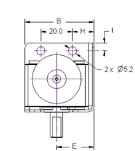 Worm Gearbox Gearmotor Stand Dimensions