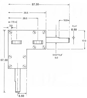 Bevel Gearbox Drawing top